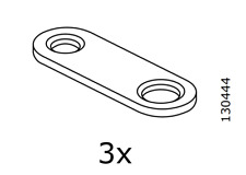 3x IKEA connector plate 130444