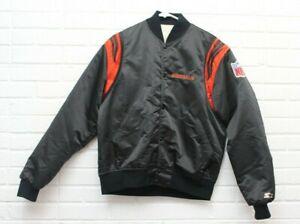 Vintage Starter Mens Size Large Cincinnati Bengals Satin Snap Button Up Jacket