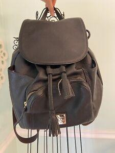 Dooney & Bourke Murphy Leather Backpack in Black Pebble