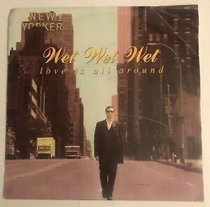 "Wet Wet Wet - ""Love Is All Around""  7"" (1994) RARE Vinyl / JWL 23 / LOG7"