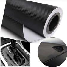 "20""x50""3D Black Carbon Fiber Vinyl Car Wrap Sheet Roll Film Sticker Decal New UP"