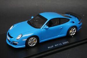 1:43 Spark S0711 RUF RT12 2005 Blue model car