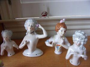 4 Arms Away Half Dolls Germany ~!5542 Schneider~14754~1266 Unglazed