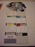 26 VINTAGE IBM PC FLOPPY SOFTWARE - 1986 1988 SWIFT DATA BASE BASEBALL MORE