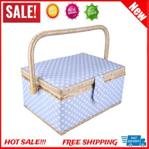 Sewing Basket Storage Box Flip Type Organizer Sewing Tools for Needle Storage