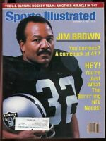 SI: Sports Illustrated December 12, 1983 Jim Brown Oakland Raiders Cover G