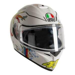 AGV 2020 K3 SV-S Blanco Zoo Casco Motocicleta Cara Completa GB Exclusivo