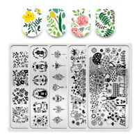 BORN PRETTY Nail Art Stamping Plates Flower Animal Spring Garden Image Templates