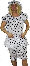 Black Dot Panto Dame Ugly Sisters Beach Wear Fancy Dress Costume Pantomime