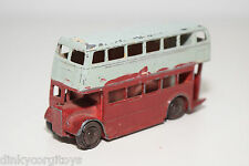DINKY TOYS 290 ROUTEMASTER BUS COACH RED GREY GOOD CONDITION REPAINT