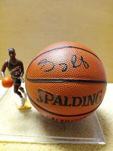 Gary Payton Seattle Supersonics Autographed Mini NBA Basketball Starting Lineup