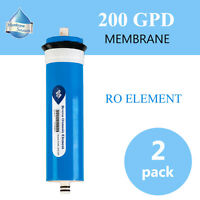 2Pack 200GPD Filtration RO Membrane Reverse Osmosis Desalination Water Filter