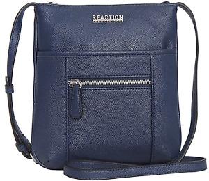 Kenneth Cole Reaction Pam Mini Cross Body Bag W/Front Zipper Navy Blue  NWT!