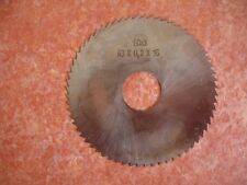Slitting Saw 63mm X 16mm HSS 3Co Schuler - Set of 5 0.20mm  thk Coarse pitch.