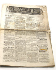 Jan 22, 1873 The Christian Union Henry Ward Beecher Editor New York NY Ford Pub.