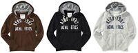 AERO Aeropostale Mens Full Zip Logo Hoodie Hooded Sweatshirt XS,S,M,L,XL,2XL,3XL