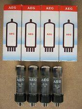 4x EL34 / 6CA7   power tubes AEG - TELEFUNKEN - o -getter  -  NOS  -  EL 34