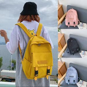 Ladies Women Large School Bags Teenage Girls Anti Theft Backpack Travel Handbag