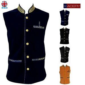 Men's Indian Velvet Waist Coat Nehru Jacket Modi Jacket MJ1070