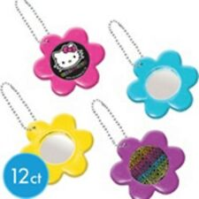 Hello Kitty Neon Birthday Party Flower Mirror Keychains 12ct - Party Favors