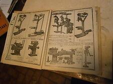 Catalogue constructeur A Villem et G Maroquenne machine à percer  tours 1923