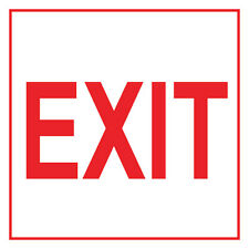 "Exit Sign 8"" x  8"""