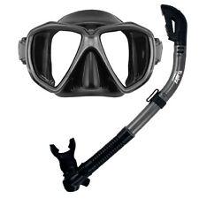 PROMATE Fish Eyes Mask Dry Snorkel Scuba Dive Snorkeling Spearfishing Gear Set