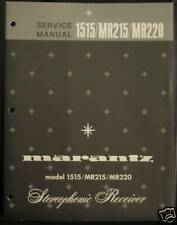 MARANTZ 1515/MR215/MR220 STEREO RECEIVER SERVICE MANUAL