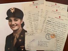 Wwii Flight Nurse letter and photos AirCorps Air Metal Jewish Officer Ww2 Wasp