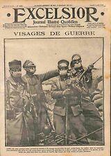 Poilus Calot Protège-Crâne Masque à Gaz Lunettes Bataille de la Marne WWI 1915
