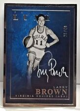 Larry Brown 2015-16 Panini LUXE Silver Metal Framed on-card Autograph Auto #d/49