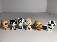 Littlest Pet Shop Lot 6 Pcs  Figures Authentic LPS mixed