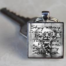 Albert Einstein Keyring Quote Einstein Keyring handmade silver plated gift