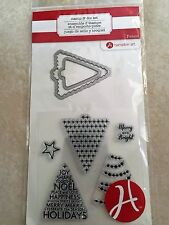 Hampton Art Clear Clear Stamp and Die Set Christmas Trees SC0739 NEW