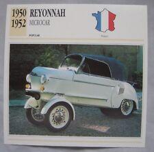 Reyonnah Microcar Collectors Classic Cars Card