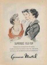 1962 Germaine Monteil ART PRINT AD feat: Three Ladies nice vintage Boudoir decor