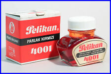 1960er PELIKAN '' Brilliant Rot Tinte '' 4001 Tinte im Fass - drawing ink red