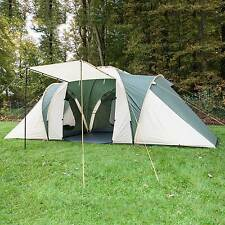 skandika Daytona 6 Person Man Family Dome Tent Mosquito Mesh Camping Green New