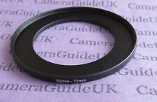 52mm to 72mm Male-Female Stepping Step Up Filter Ring Adapter UK