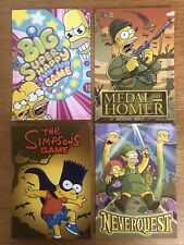 4 x THE SIMPSONS GAME OFFICIAL POSTCARDS