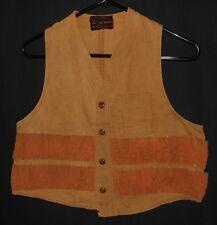 Vtg. 50's Hunting Vest Canvas Waistcoat Hettrick Sportswear Men's Size Small