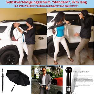 Regenschirm Selbstverteidigung Stützschirm SV Abwehr Schirm Self Defense Waffe