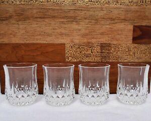 "CRISTAL D'ARQUES LONGCHAMPS set of 4  Liquor Cordial Shot Glasses 2"""