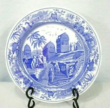 "The Spode Blue Room Collection CARAMANIAN 10 1/2"" Dinner Plate MINT!"