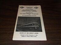 SEPT. 1964 RED ARROW LINES PHILADELPHIA SUBURBAN TRANSPORTATION LIBERTY LINER
