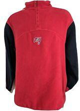 Tampa Bay Buccaneers NFL pullover fleece red black adjustable waist outerwear Lg