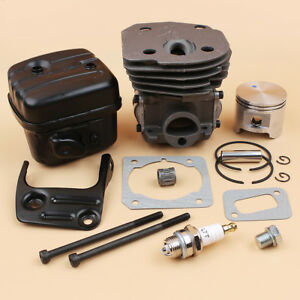 Cylinder Piston Muffler Kit Fit Husqvarna 353 350 351 346 345 340 BIG BORE 45mm