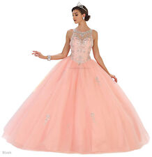 NEW DESIGNER CINDERELLA BALL GOWN MASQUERADE DRESS DANCE PARTY PAGEANT GALA