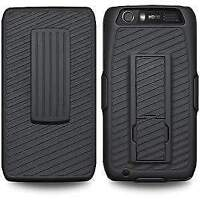 BELT CLIP HOLSTER SHELL RUGGED CASE WITH KICKSTAND FOR MOTOROLA ATRIX HD MB886