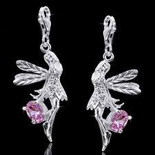 Materia Charms Anhänger Elfe Silber 925 mit Zirkonia rosa für Charms Armband